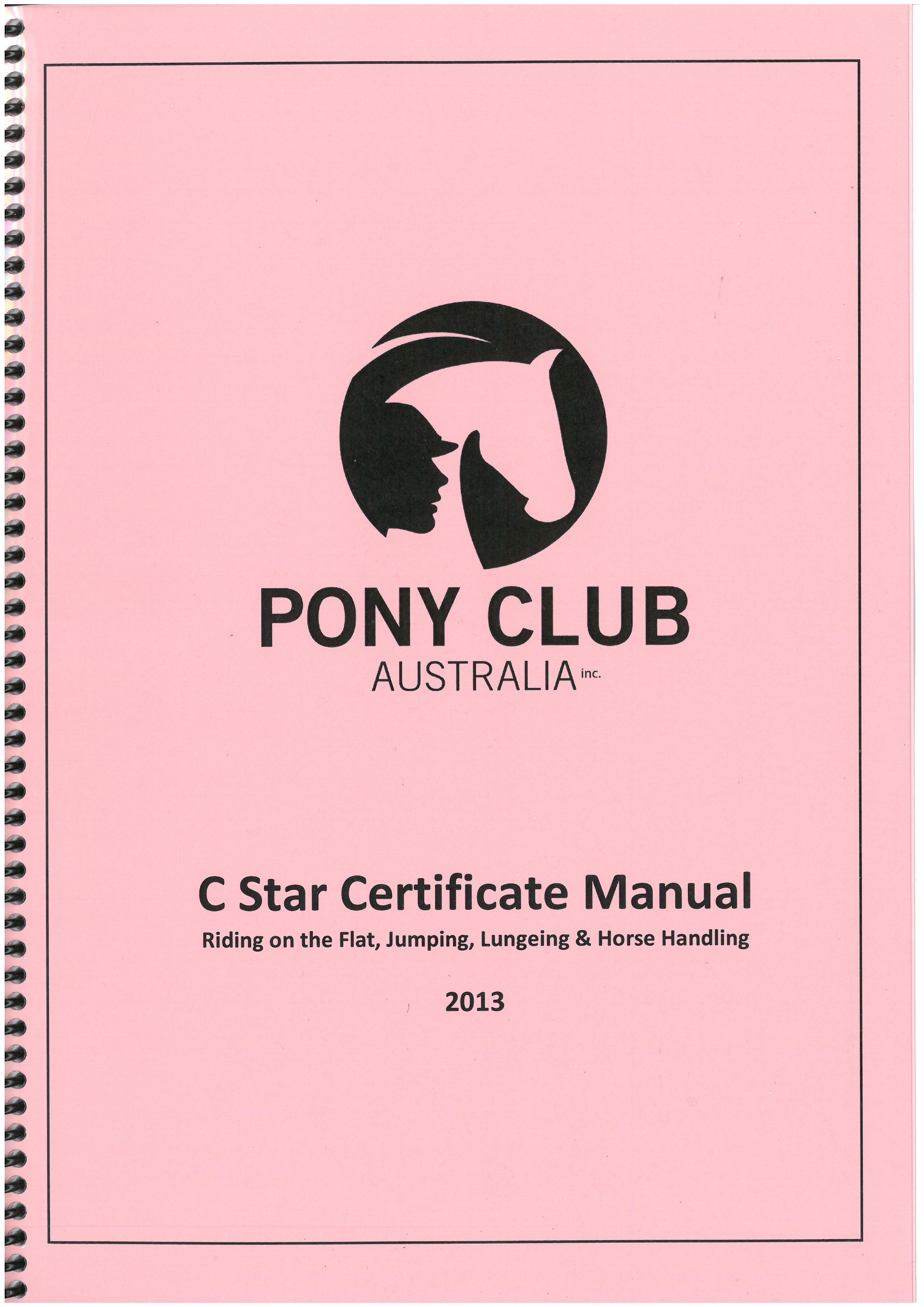 Efficiency Certificates | Pony Club Western Australia