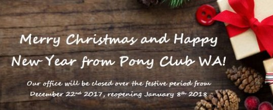 Pony Club WA Christmas Break