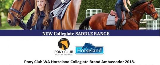 Pony Club WA Horseland Collegiate Brand Ambassadors 2018