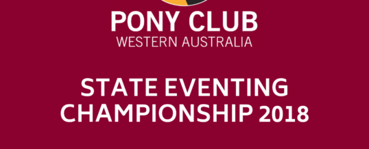 State Eventing Championships 2018 – Entries Now Open!