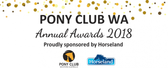 AND THE 2018 PONY CLUB WA AWARD WINNERS ARE…