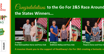 Congratulations to the Go For 2&5 Race Around the State Winners!