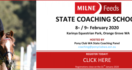 WILL YOU BE ATTENDING THE MILNE FEEDS STATE COACHING SCHOOL 2020?