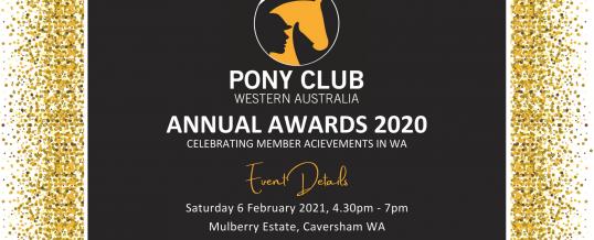 2020 Pony Club WA Annual Awards