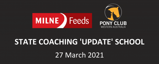 NEW DATE!! – MILNE FEEDS STATE COACHING 'UPDATE' SCHOOL 2021