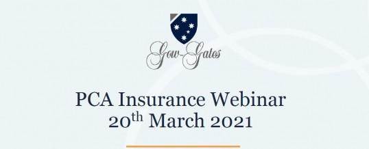 PCA Insurance Webinar Recap