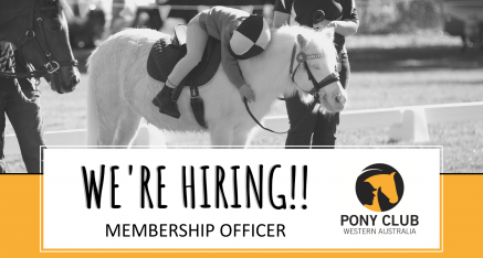 MEMBERSHIP OFFICER POSITION AVAILABLE WITH PONY CLUB WA